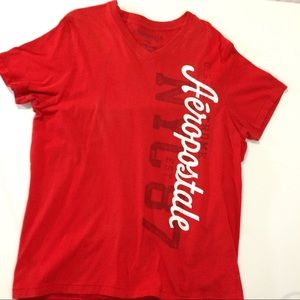 Other - Aeropostale men's XL s sleeve cotton red t shirt